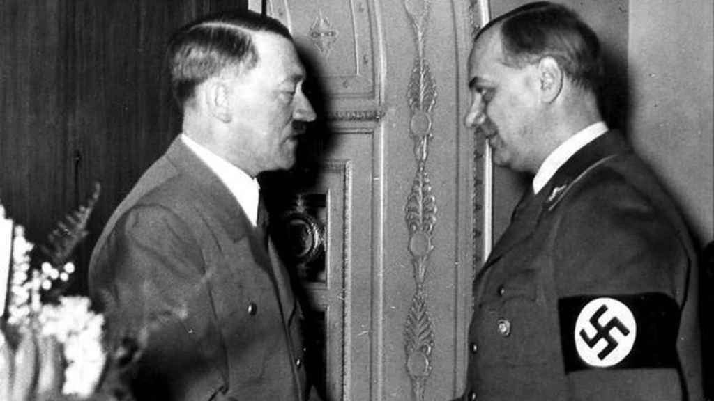 Hitler y Rosenberg.