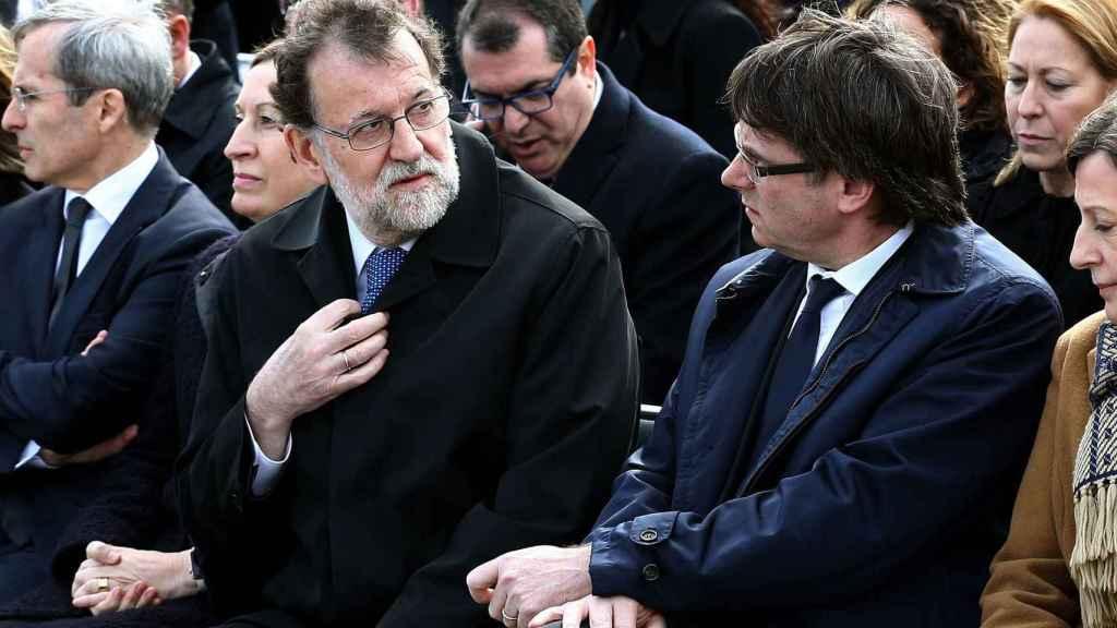 Rajoy y Puigdemont.