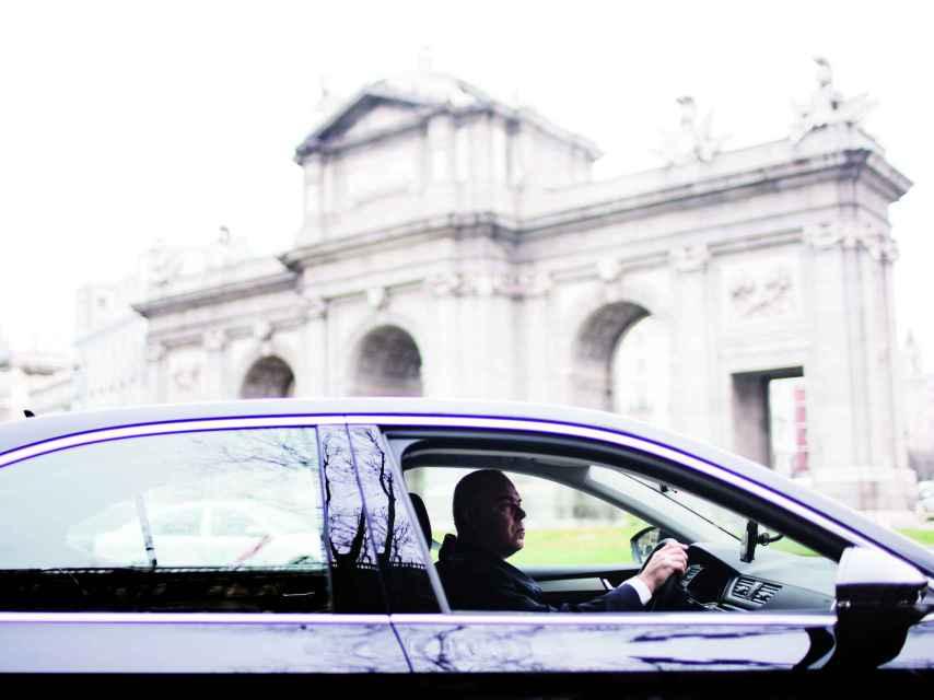 Un conductor de Uber.
