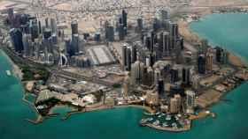Imagen aérea de la zona diplomática de Doha