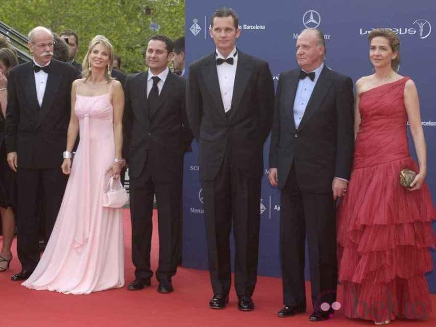 Corinna zu Sayn-Wittgenstein con el Rey Juan Carlos I, la Infanta Cristina e Iñaki Urdangarin.