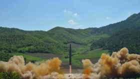 El misil lanzado por Corea del Norte.