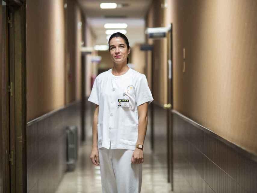 La teniente Arancha Posadas fue una de las enfermeras de la misión.