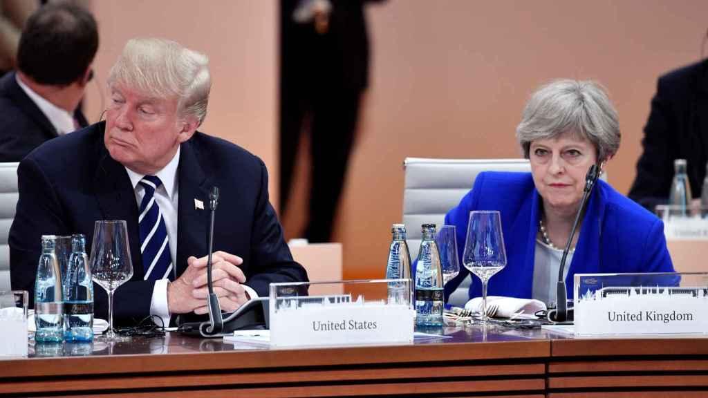 May y Trump se han sentado juntos en el G20