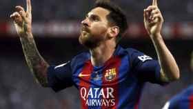 Leo Messi en un partido con el FC Barcelona.