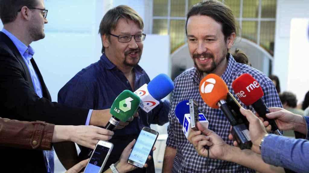 Xavi Domènech y Pablo Iglesias.