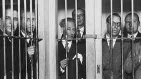 Companys, Tarradellas, Xirau y otros representantes de ERC, entre rejas tras la intentona de aquel octubre de 1934.