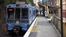 Andén de la estación de Ardanza, en Eibar, donde fue secuestrado Miguel Ángel Blanco.