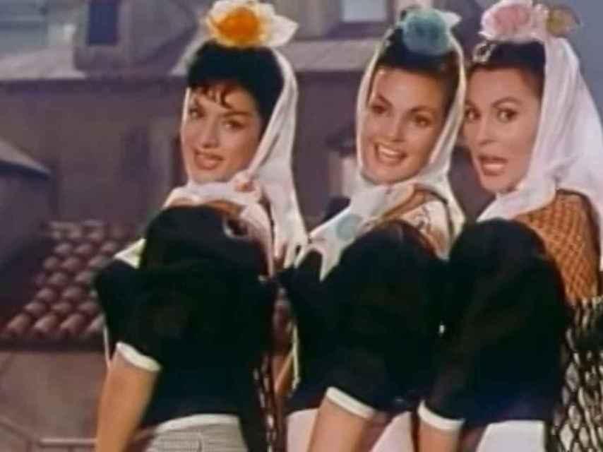 Lola Flores, Carmen Sevilla y Paquita Rico, las tres andaluzas en El balcón de la luna.