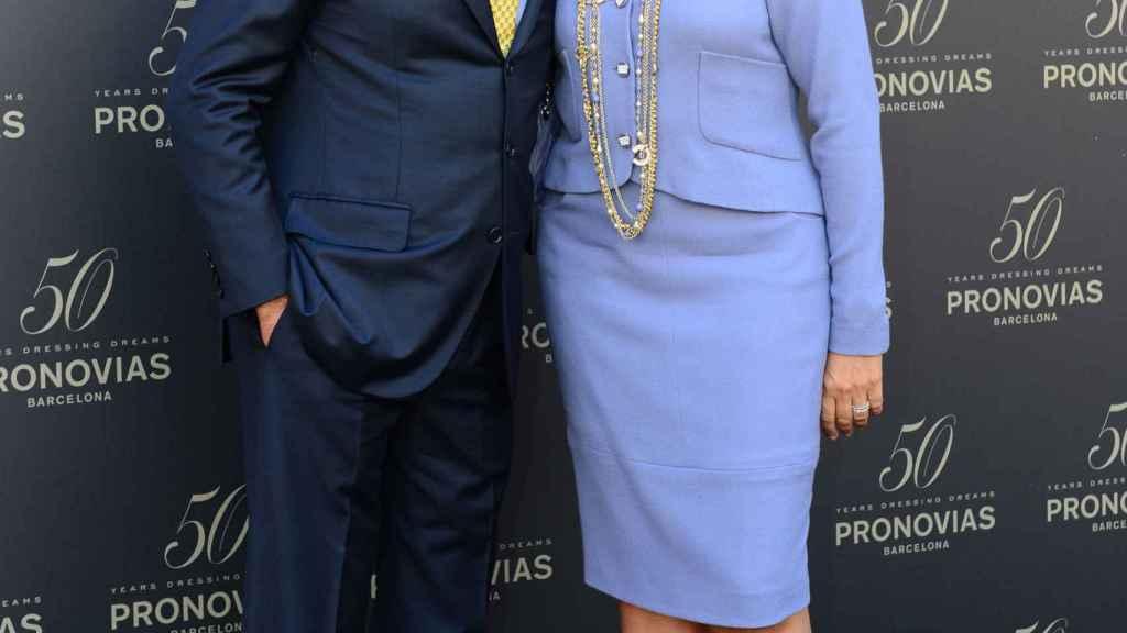 Alberto Palatchi, fundador de Pronovias, junto a su ya exmujer, Susana Gallardo.