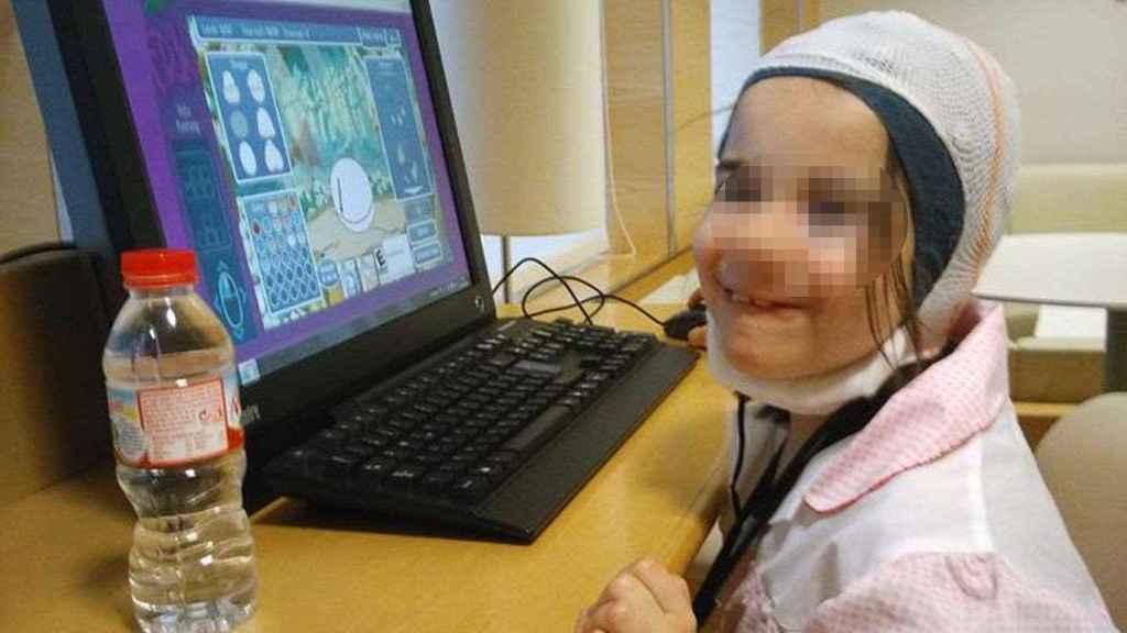 Nahia, en su estancia en la clínica Teknon