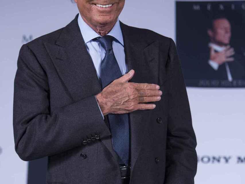 Julio Iglesias en una imagen de archivo en México.