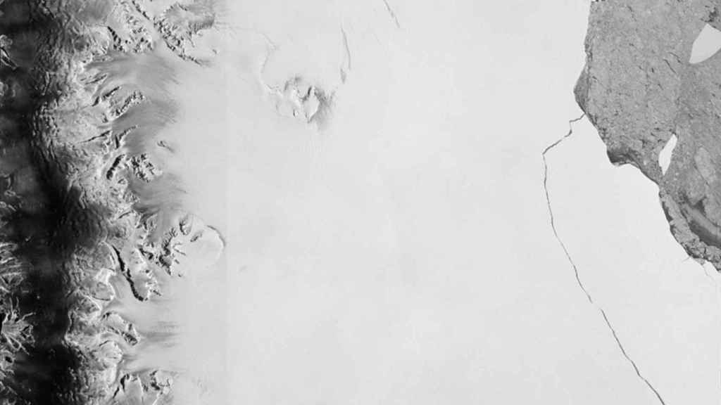 La brecha vista desde el satélite de la ESA.