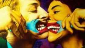 La icónica fotografía 'El beso'