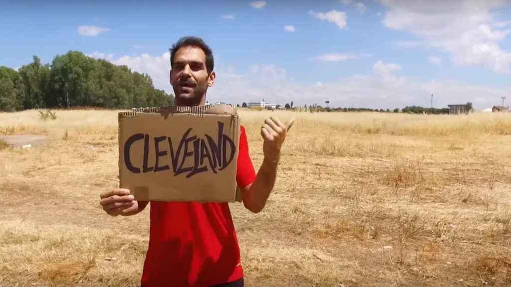 Calderón en el divertido vídeo del Villanovense.