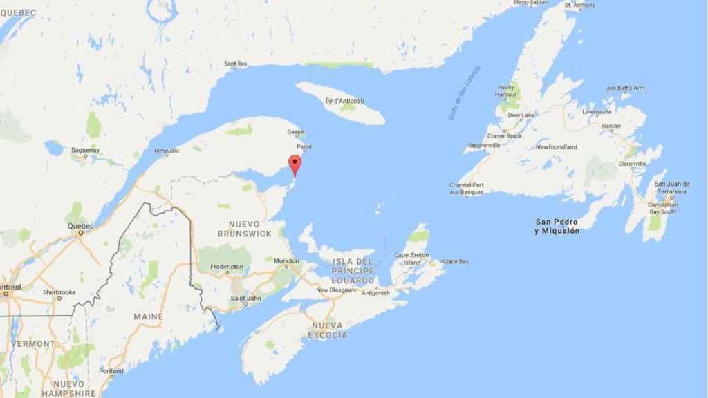 El incidente ocurrió en las aguas al este de Miscou Island