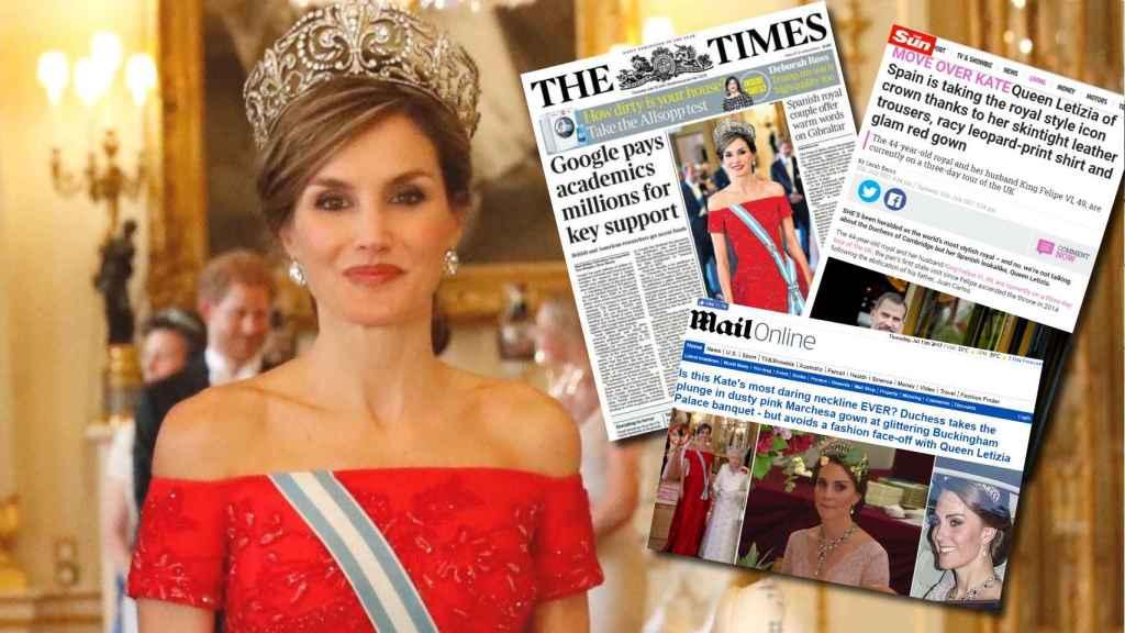 La reina Letizia, protagonista de las portadas de los diarios ingleses.