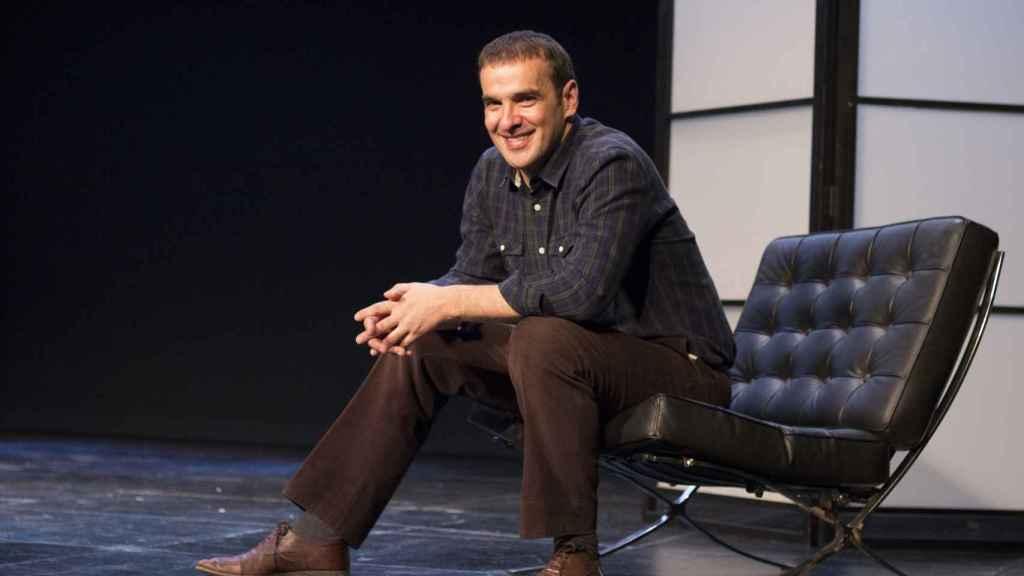 Luis Merlo en la presentación de la obra de teatro 'El Crédito'.