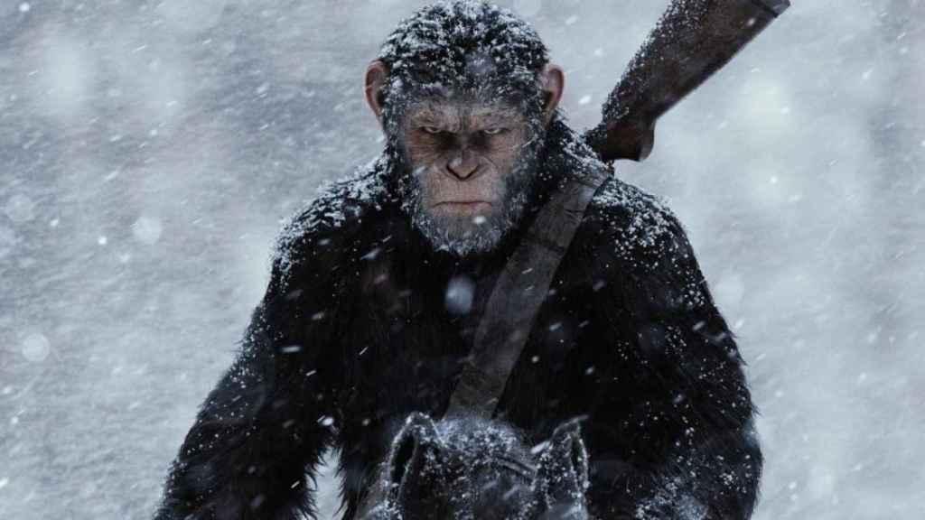 Fotograma de La guerra del planeta de los simios.