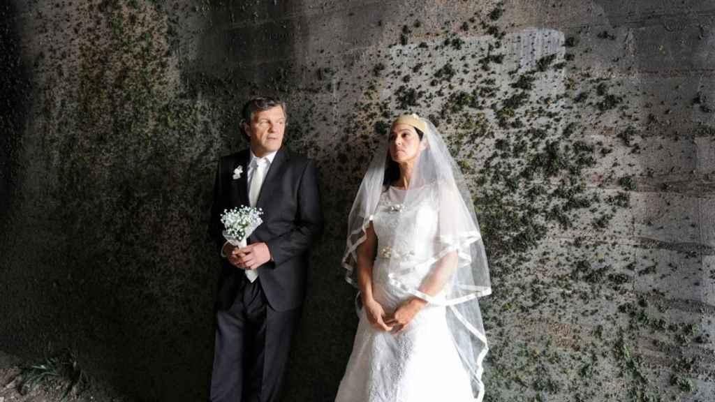 Kusturica y Monica Bellucci en la película.