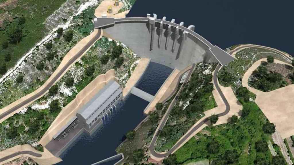 Imagen del proyectado complejo hidroeléctrico en el Támega.