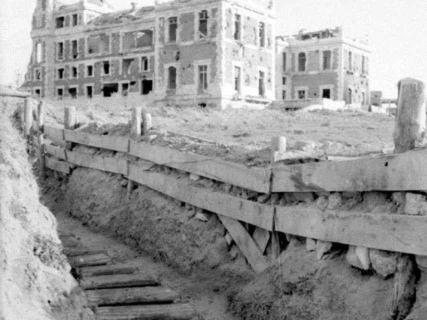 Trincheras excavadas en la Ciudad Universitaria junto a la Casa Velázquez.