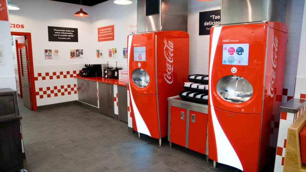 Las máquinas Freestyle de Coca-Cola debutaron en Five Guys