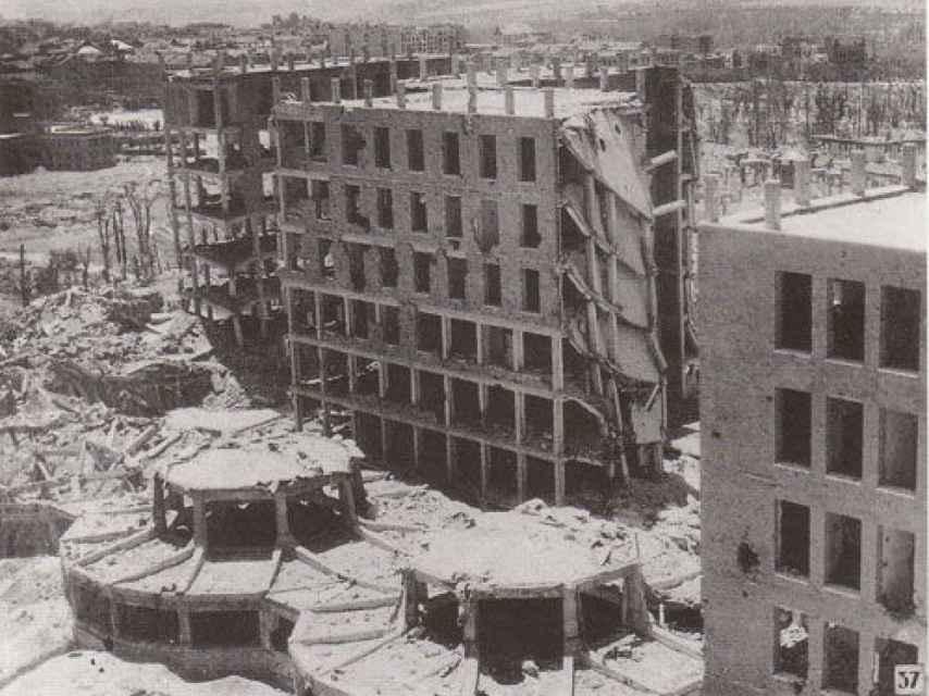Estado del Hospital Clínico tras tres años de batalla durante la Guerra Civil.