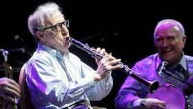 Woody Allen durante un concierto