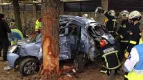 El servicio de Emergencias Comunidad de Madrid atiende un accidente.