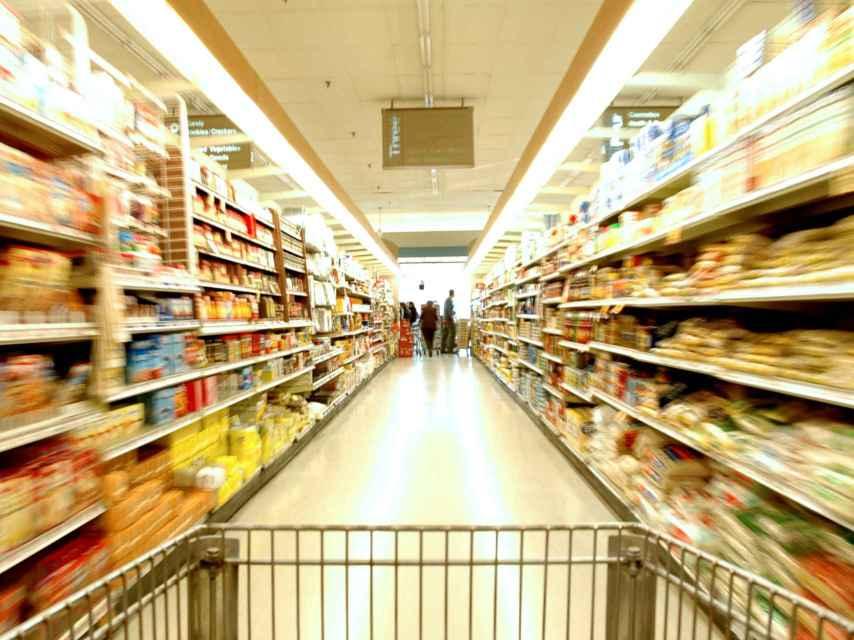 El pasillo de un supermercado, en una imagen de archivo.