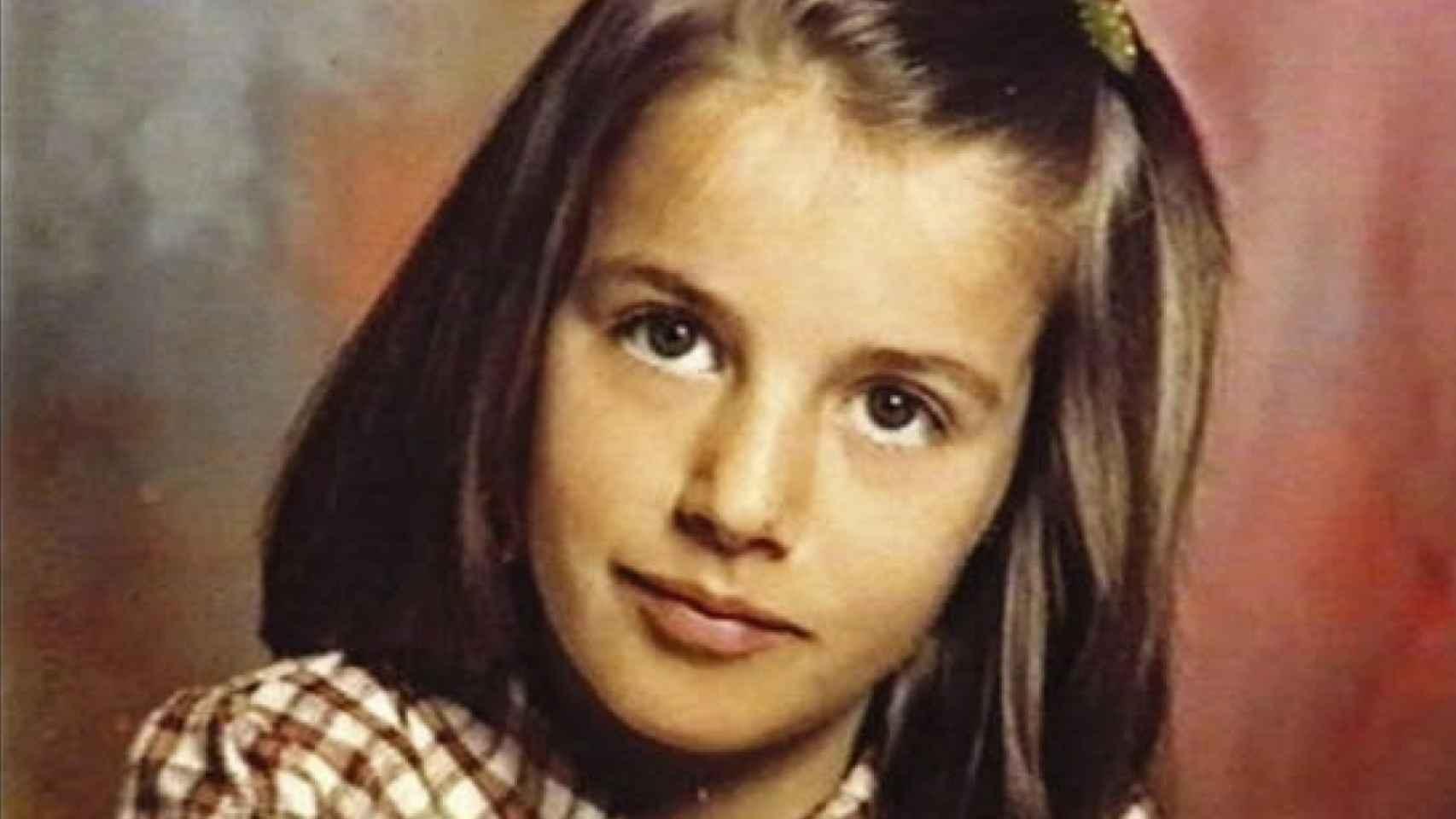 Letizia Ortiz cuando era pequeña