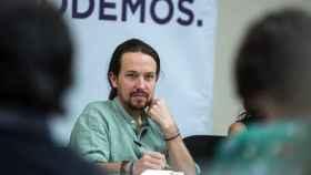 Pablo Iglesias en el Consejo Ciudadano Estatal de su partido en Carranque, Toledo.