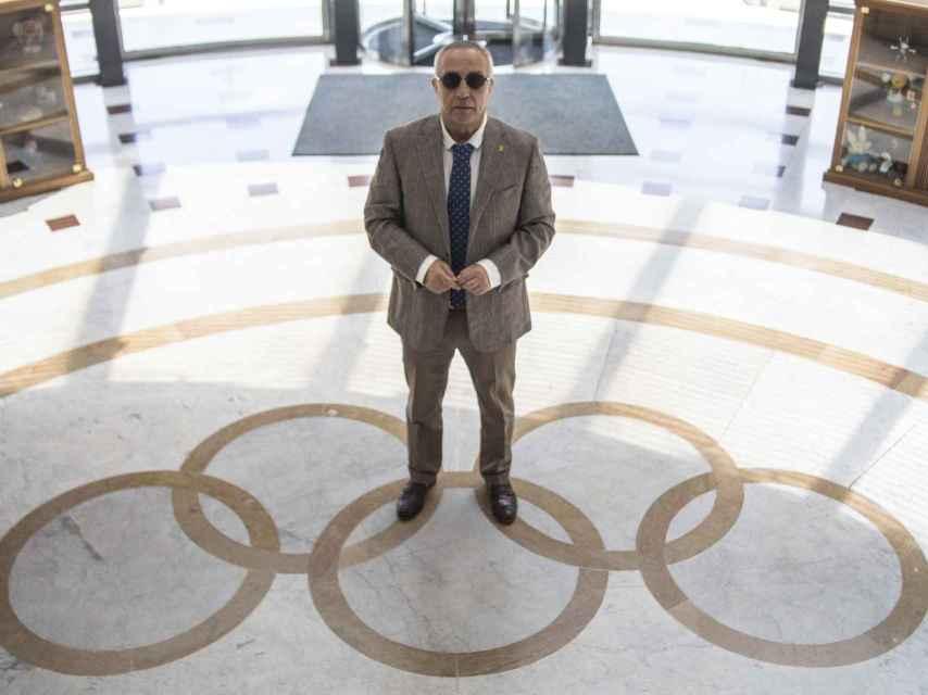 Alejandro Blanco, en la sede del Comité Olímpico Español.
