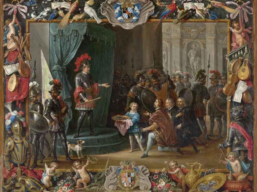 La rendición de los rebeldes sicilianos a Antonio de Moncada en 1411.
