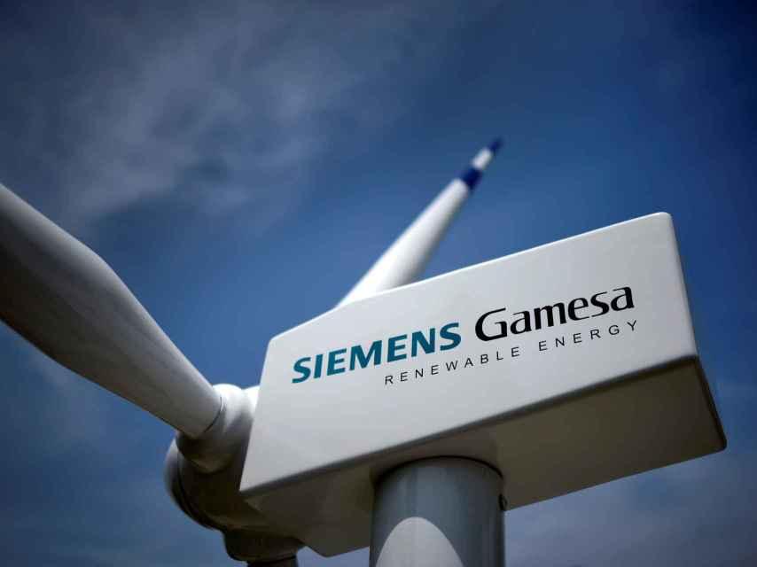 Imagen de una turbina eólica de Siemens Gamesa instalada en Zamudio.