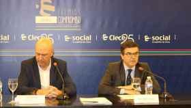 Luis Lorente y José Andrés Elizaga, durante la presentación de la III Edición de los Premios Compromiso de Clece.