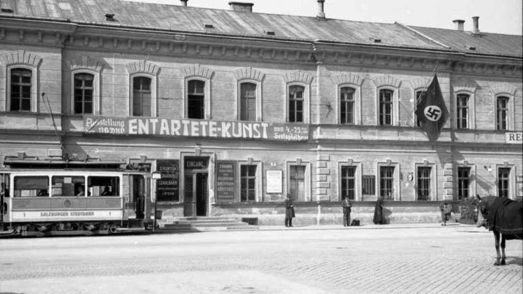Exposición sobre Arte degenerado en Salzburgo, 1938.