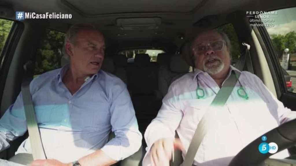 Bertín Osborne y Arévalo, de camino a la casa de Feliciano López.