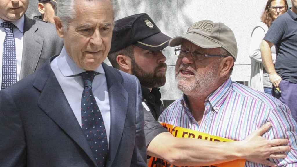 Miguel Blesa a la salida de los juzgados de Plaza de Castilla.