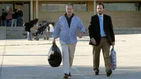 Miguel Blesa, a su salida de la prisión madrileña de Soto del Real, en junio.