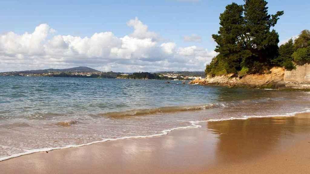 Playa de Gandarío, en la localidad coruñesa de Bergondo.