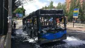 El autobús de la línea 133 que se quemó el pasado 17 de julio.