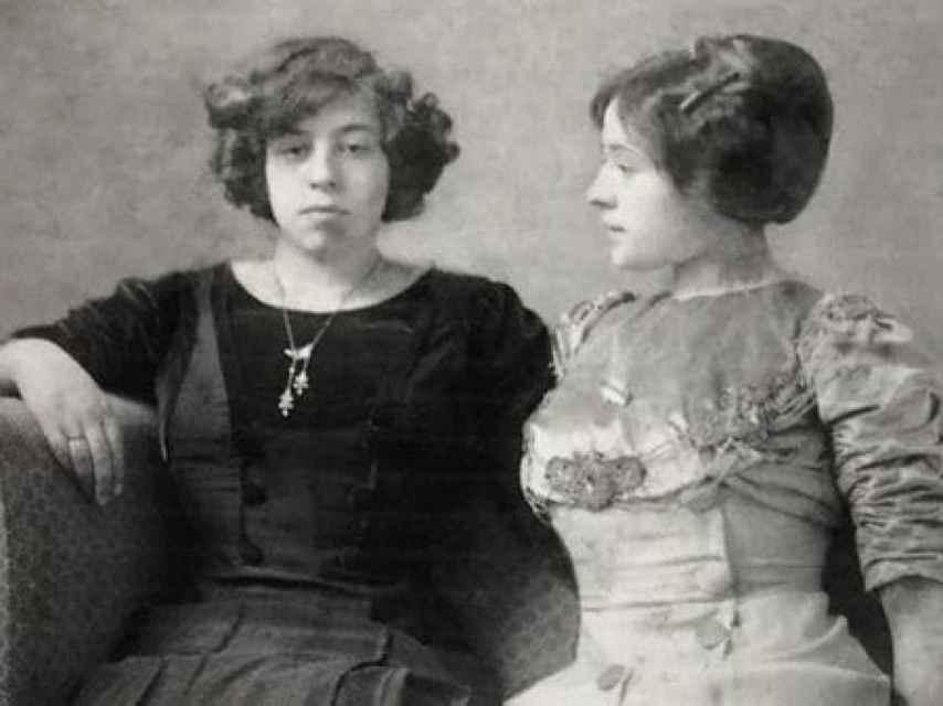 Tom Seidmann-Freud y su hermana Lily, en una foto de juventud