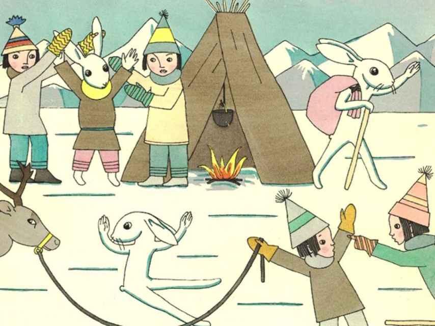 Ilustración de El libro de las historias de las liebres.