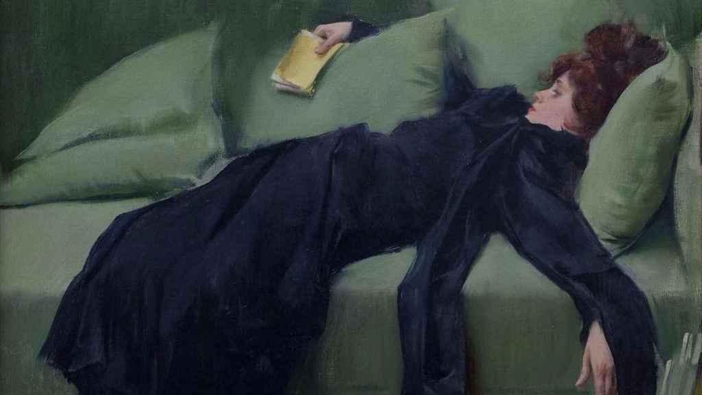 Joven Decadente por Ramon Casas (1899). | Foto: CaixaForum.