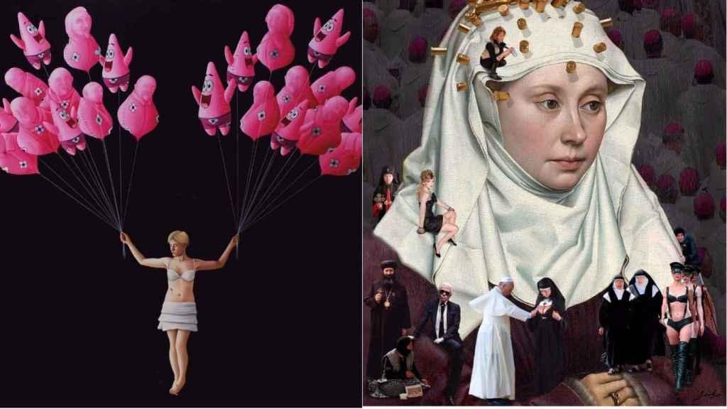 Patricio versus Bernini de Xevi Vilaro y Woman Portrait de LLuis Barba. | Foto: Art Marbella.