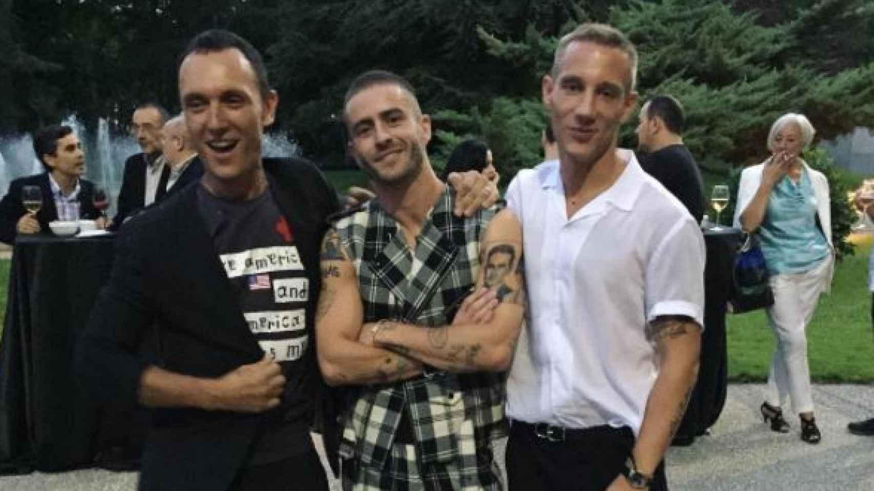 Gorka Postigo, Pelayo Díaz y Pablo Sáez.