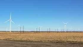 Imagen de un parque eólico en Carolina del Norte (EEUU)