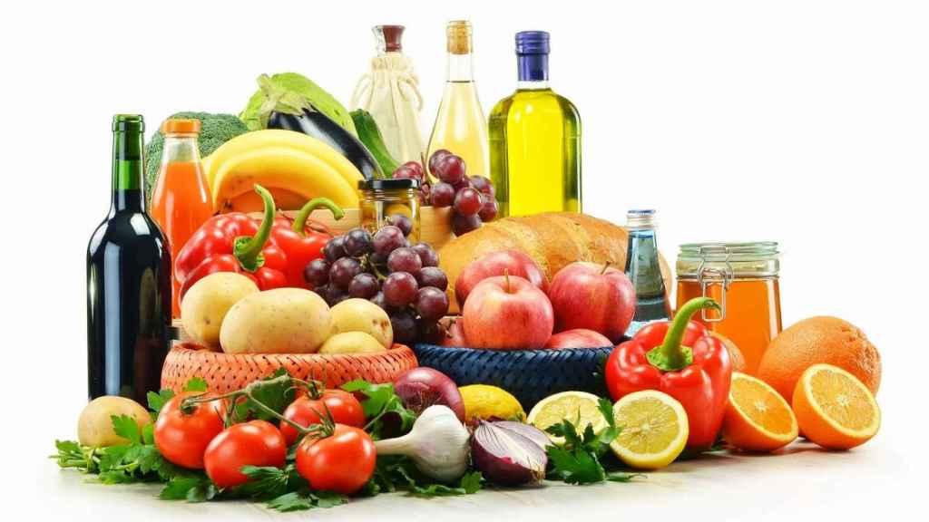 Alimentos propios de la dieta mediterránea.